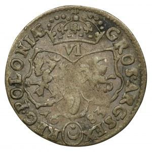 Jan III Sobieski, Szóstak Bydgoszcz 1683 TLB - odmiana z herbem Leliwa