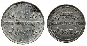 Zestaw, Ost, 1 i 2 kopiejki 1916 (2 szt.)