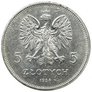 Nike, 5 złotych Bruksela 1928