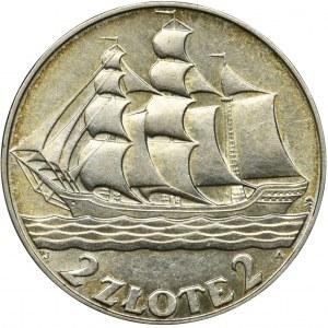 Żaglowiec, 2 złote 1936