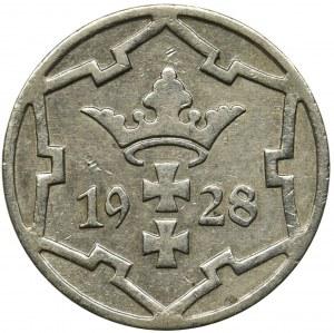 Wolne Miasto Gdańsk, 5 fenigów 1928 - rzadki