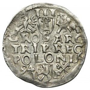 Zygmunt III Waza, Trojak Poznań 1594 - dwoje uszu