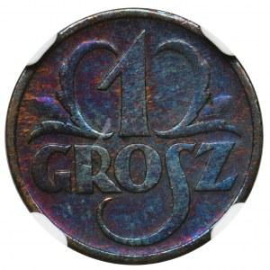 1 grosz 1935 - NGC UNC DETAILS