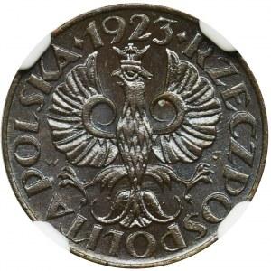 1 grosz 1923 - NGC MS65 BN
