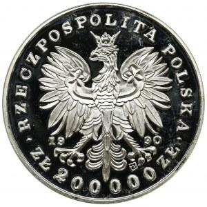 DUŻY TRYPTYK 200.000 złotych 1990 - Piłsudski