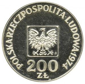 200 złotych 1974 - XXX Lat PRL - lustrzanka