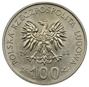 100 złotych 1988 - Jadwiga - bez znaku