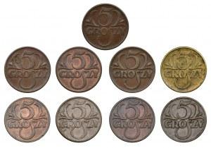 Zestaw, 5 groszy (9 szt.)