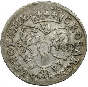 Jan III Sobieski, Szóstak Bydgoszcz 1683 TLB - herb Jelita