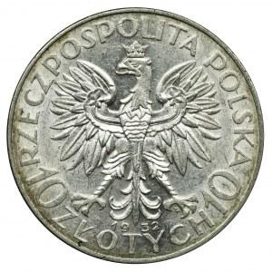 Głowa Kobiety, 10 złotych Warszawa 1932