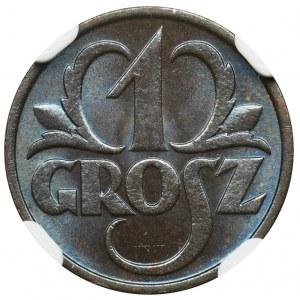1 grosz 1933 - NGC MS66 BN
