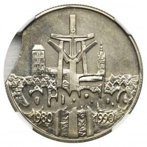 DESTRUKT, 10.000 złotych 1990 Solidarność - NGC MS65