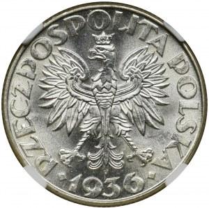 Żaglowiec, 2 złote 1936 - NGC MS64