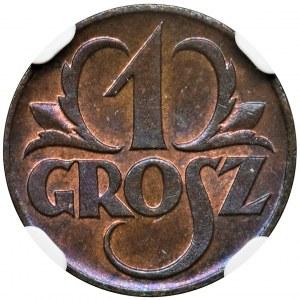 1 grosz 1923 - NGC MS65 RB