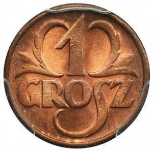 1 grosz 1938 - PCGS MS67 RD
