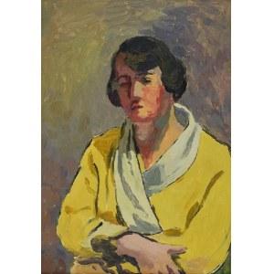 Leonard PĘKALSKI (1896-1944) , Portret p. Wandy P. w żółtym szlafroku