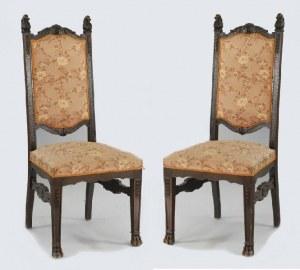 Zestaw 4  krzeseł z tkaniną w kwiaty