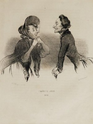 Honoré DAUMIER (1808-1879), Para litografii