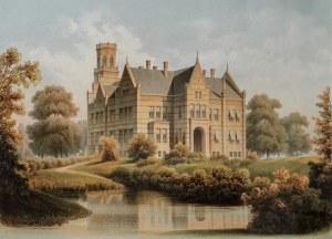 Friedrich  HITZIG (1811-1881), Zamek w stylu neogotyckim, ok. 1850