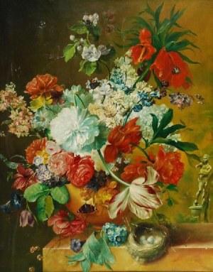 Artysta nieokreślony, Martwa natura z bukietem kwiatów
