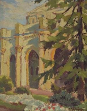 Paweł Stefan KALIŃSKI (1892-1948), Fragment ogrodu w Busko-Zdroju