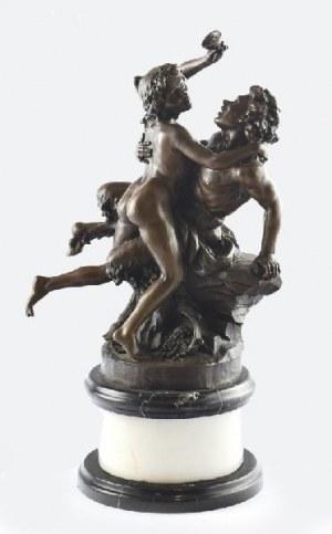 Claude MICHEL -  CLODION (1738-1814) - według, Odurzeni winem - Para bachiczna w miłosnym objęciu