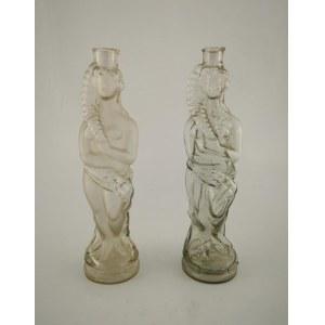 Para butelek w kształcie postaci kobiet, pocz. XX w.