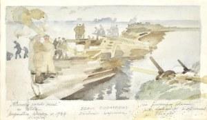 Stanisław Czajkowski (1878-1954), Pierwszy polski most na Wiśle - Przyczółek Warka w 1944 roku, 1944