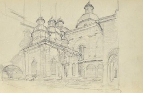 Józef Pieniążek (1888-1953), Widok na kaplice przykościelne