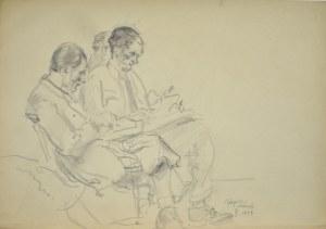 Kasper Pochwalski (1899-1971), Postacie mężczyzn we wnętrzu, 1953