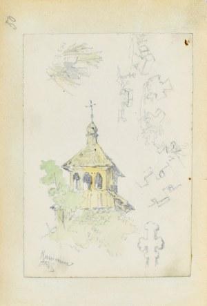 Tadeusz Rybkowski (1848-1926), Wieża kościoła i szkice krzyży
