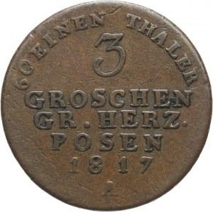 Wielkie Księstwo Poznańskie, Fryderyk Wilhelm III 1797-1840, 3 grosze 1817 A, Berlin