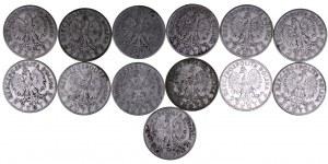 Polska, II Rzeczpospolita 1918-1939, zestaw monet dwuzłotowych