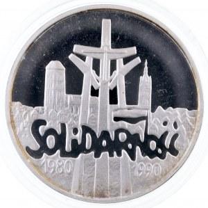 Rzeczpospolita Polska, 100000 złotych 1990, Solidarność gruba