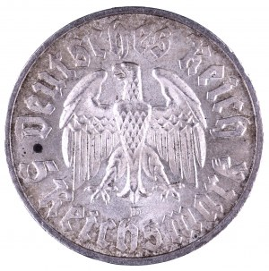 Niemcy, Republika Weimarska 1918-1933, 5 marek 1933 D, Monachium, 450. rocznica urodzin Marcina Lutra / Zum 450. Geburstag von Martin Luther