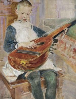 Malczewski Jacek, PORTRET SYNA RAFAŁKA, OK. 1900