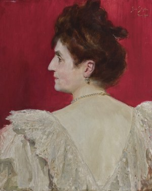 Styka Jan, PORTRET GUSTAWY MARCZEWSKIEJ, 1901
