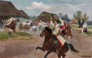 Kossak Jerzy, WESELE KRAKOWSKIE – WIOSNA, 1936