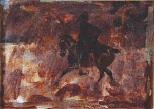 Jerzy Kossak (1886-1955 ) ? Kurier napoleoński, 1930?