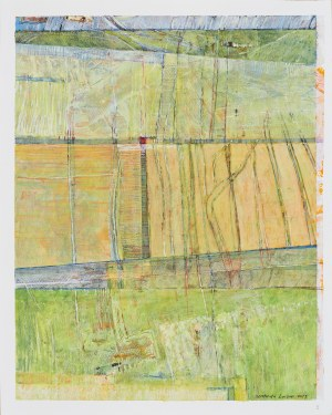 Sebastian Łyczko (Ur.1975), Pejzaż wiosenny abstrakcyjny, 2019