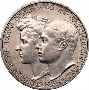 Niemcy - Saksonia Weimar Eisenach - 3 marki 1910 - zaślubinowe