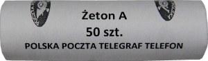 Rolka bankowa 50 sztuk żeton A 1990 - Poczta Polska - mennicze