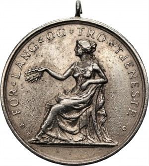 Norwegia - medal za długą i wierną służbę - grawerowany Alan Quarfoedt 1963