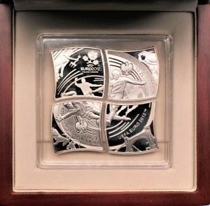 Komplet - 4 x 10 złotych 2012 UEFA Euro