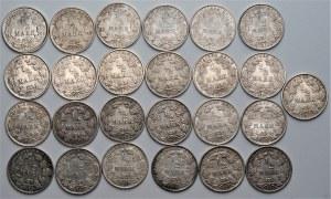Niemcy - zestaw 25 sztuk 1/2 marki (1907-1917) srebro - różne mennice