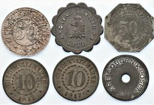 Zestaw Monet Zastępczych - 6 sztuk (1917-1922)