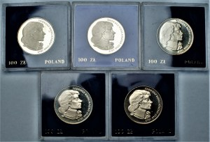 PRL - zestaw 5 sztuk 100 złotych 1976 - Tadeusz Kościuszko