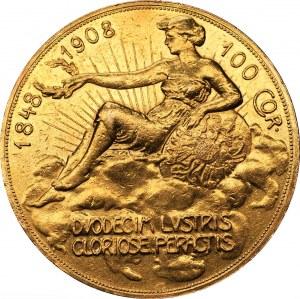 Austria - Franciszek Józef I - 100 koron 1908 - Wiedeń - 60-lecie panowania