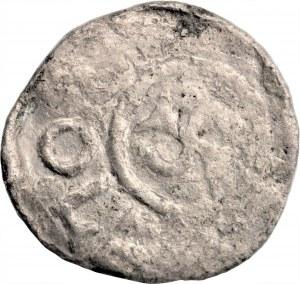 Bolesław III Krzywousty (1107-1138) - denar Wrocław 1097-1107 - monogram SI