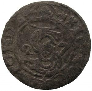 Zygmunt III Waza (1587-1632) - Ternar Łobżenica 27/1627 RZADKI - Kolekcja Górecki